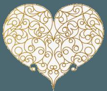 Coeur filigrane